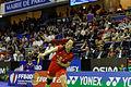 Yonex IFB 2013 - Quarterfinal - Tian Qing - Zhao Yunlei vs Misaki Matsutomo - Ayaka Takahashi 07.jpg