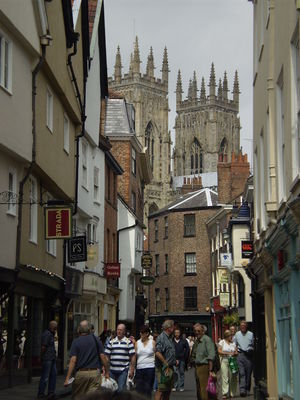 York Minster church as seen from Low Petergate.
