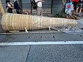 Yoshida Fire Festival large torches placed on the sidewalk B.JPG