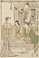 Yoshitsune een serenade brengend aan Joruri hime.-Rijksmuseum RP-P-1952-182.jpeg