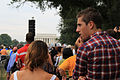Young couple and Lincoln Memorial - 50th Anniversary of the Civil Rights March on Washington for Jobs and Freedom.jpg