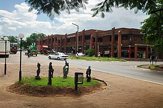 Victoria Falls, Zimbabwe - A road in town's center