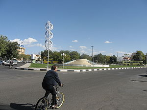 Environmental issues in Iran - An Iranian cyclist in Zanjan