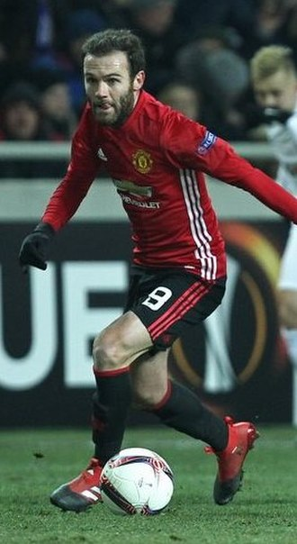 Juan Mata - Mata playing for Manchester United in 2016