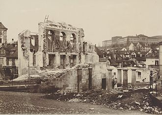 Zürich Opera House - Ruins of the Aktientheater after the fire of 1890