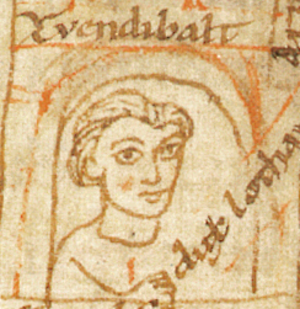 Zwentibold - Zwentibold dux Lotharingiae, from the Chronicon Universale, a 12th-century manuscript by Ekkehard of Aura