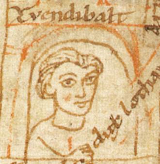 Zwentibold - Zwentibold dux Lotharingiae, from the Chronicon Universale, a 12th-century manuscript by Ekkehard of Aura