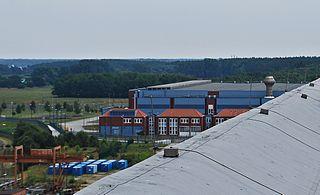 Das Zwischenlager Nord, aufgenommen vom Dach des Maschinenhauses des Kernkraftwerks Greifswald