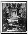 """Chatham,"" Colonel Daniel Bradford Devore house, 120 Chatham Lane, Fredericksburg, Stafford County, Virginia. West entrance, with small dog sitting on steps at door LCCN2008678820.jpg"