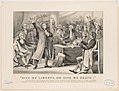 """""""Give me liberty, or give me death!"""" Patrick Henry delivering his great speech on the rights of the colonies, before the Virginia Assembly, convened at Richmond, March 23rd 1775, concluding LCCN2001700209.jpg"""