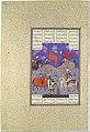 """Rustam Slays Isfandiyar"", Folio 466r from the Shahnama (Book of Kings) of Shah Tahmasp MET DP107170.jpg"