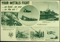 """YOUR METALS FIGHT ON LAND...ON SEA...IN THE AIR."" - NARA - 516268.tif"