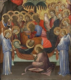 Gherardo Starnina - 'Dormition of the Virgin' by Gherardo Starnina, c. 1404-1408, at the Philadelphia Museum of Art.