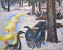 'Ducks and Turkeys' by Edvard Munch, 1913.JPG