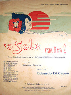 'o sole mio 1898.JPG