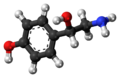 (S)-Octopamine molecule ball.png