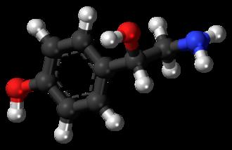 Octopamine (drug) - Image: (S) Octopamine molecule ball