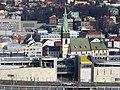 Ústí nad Labem, Forum a kostel, z Větruše.jpg