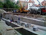 Český Krumlov, Jelení lávka, rekonstrukce jezu a lávky (005).JPG