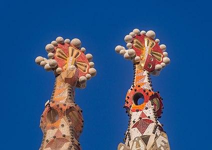 The spires of Sagrada Familia