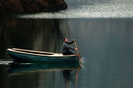 Boating on Lake Matka, Macedonia