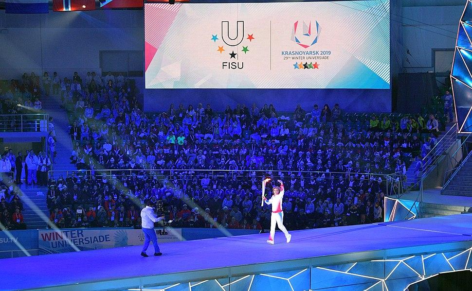 Открытие XXIX Всемирной зимней универсиады в Красноярске 05