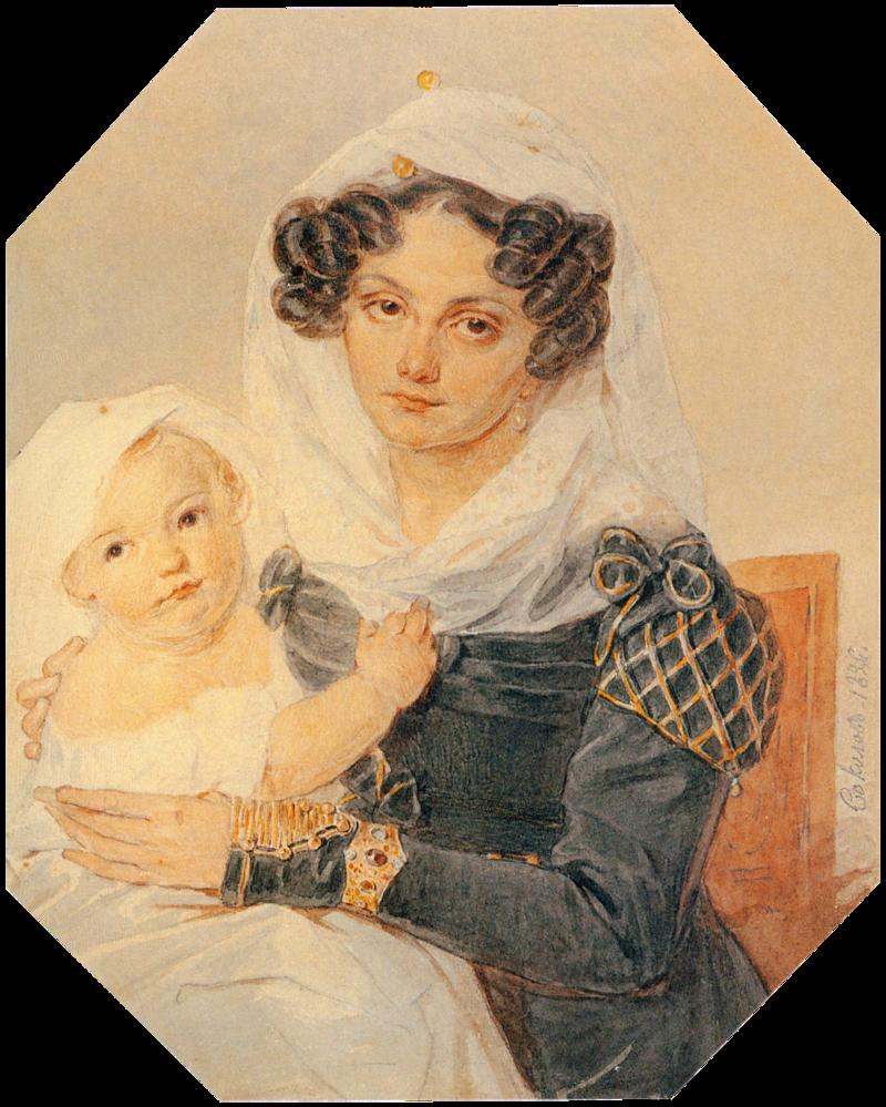 П.Соколов.Портрет княгини М.Н.Волконской с сыном Николаем.1826.png