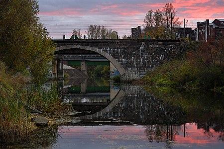 The old bridge over Izhora River, Kolpino.