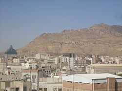 Jabal Nuqm or Jabal Nuqum in the area of Sanaa. Local legend has it that after the death of Noah, his son Shem built the city at the base of this mountain.[1]