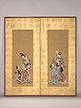 白拍子・遊女図-Shirabyōshi Dancer and Female Servant; Courtesan and Girl Attendant MET DP-13540-001.jpg