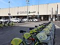 004 Estació de ferrocarril de Girona, pl. Espanya, i parada de la Girocleta.jpg