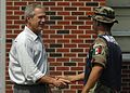 050912-N-6925C-005 President George W. Bush conveys his gratitude to a Mexican marine, on their clean up efforts.jpg