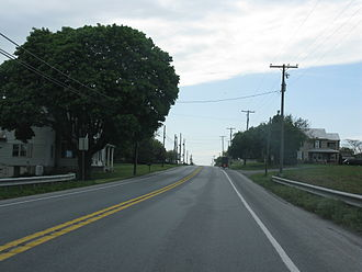 U.S. Route 322 in Pennsylvania - US 322 approaching Hickory Lane in Hinkletown, Lancaster County.