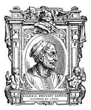 Baldassare Peruzzi - Portrait of Baldassare Peruzzi from Lives of the Most Excellent Painters, Sculptors, and Architects by Giorgio Vasari, edition of 1568.