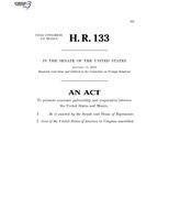 116th United States Congress H. R. 0000133 (1st session) - United States-Mexico Economic Partnership Act C - Referred in Senate.pdf