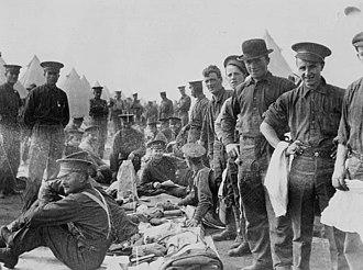 11th Battalion, CEF - Kit inspection, 11th Battalion, Valcartier, Quebec