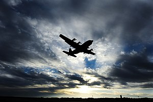 913th Airlift Group - A USAF C-130 Hercules takes off from Little Rock Air Force Base