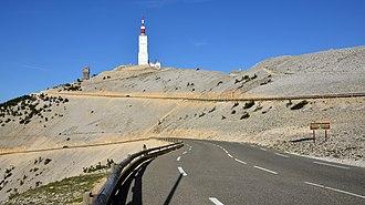 Mont Ventoux - North side of the summit of Mont Ventoux