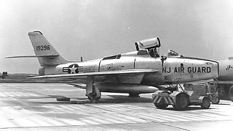 141st Air Refueling Squadron - 141st TFS F-84F Thunderstreak 51-9396 about 1960.