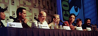 Image Comics - Panel at ComicCon 2007 on the 15th anniversary of the founding of Image Comics. From left: Jim Lee, Todd McFarlane, Erik Larsen, Jim Valentino, Marc Silvestri, Rob Liefeld and Whilce Portacio.