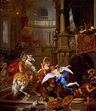 1674 Gérard de Lairesse - Expulsion of Heliodorus from the Temple.jpg