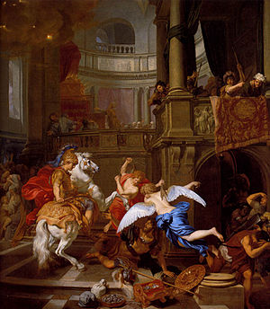 1674 in art - Image: 1674 Gérard de Lairesse Expulsion of Heliodorus from the Temple