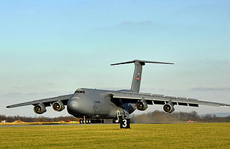 167th Airlift Squadron - 167th Airlift Squadron Lockheed C-5A Galaxy 70-0452 landing at Shepherd Field, Martinsburg