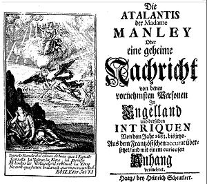 Delarivier Manley - German edition of Manley's Atalantis, 1713