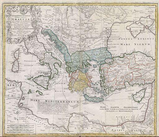 1741 Homann Heirs Map of Ancient Greece ^ the Eastern Mediterranean - Geographicus - Graecia-homannheirs-1741