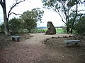 1844 - Myall Creek Massacre and Memorial Site - At the end of the walkway is the memorial set on a rise over looking the site of the massacre (5056626b3).jpg