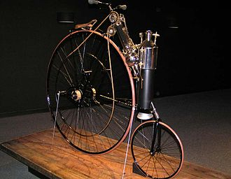 Copeland steam bicycle - Image: 1884 Copeland Steam Cycle (replica) The Art of the Motorcycle Memphis