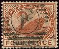 1890ca 4d chestnut Western Australia oval F Yv46 SG98.jpg
