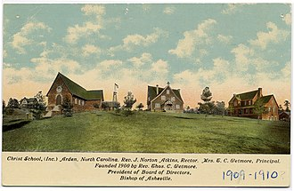 Christ School (North Carolina) - Postcard of Christ School, c. 1909-10