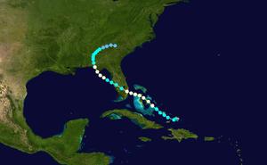 1903 Florida hurricane - Image: 1903 Atlantic hurricane 3 track